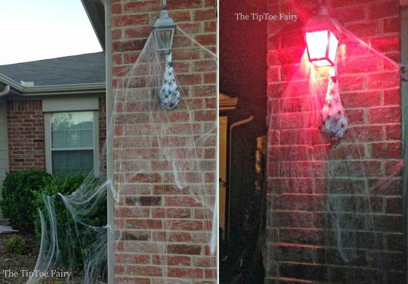spider sac halloween decoration
