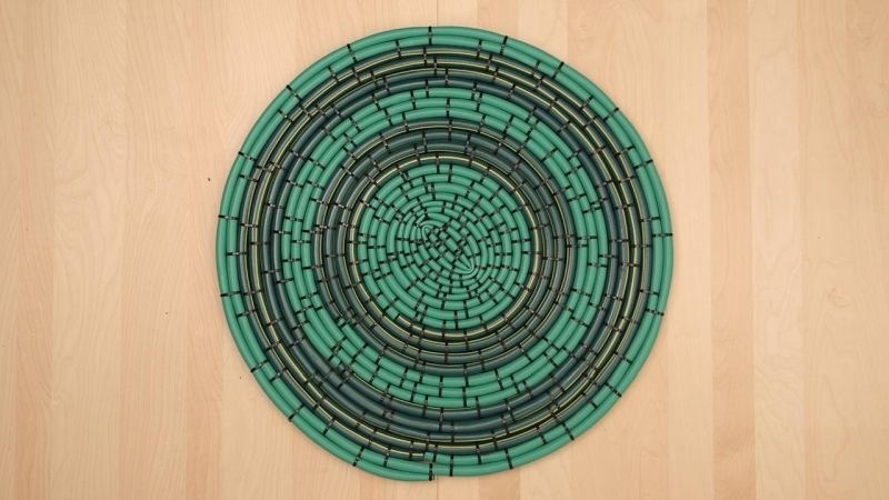 turn your old garden hose into no-slip outdoor mat