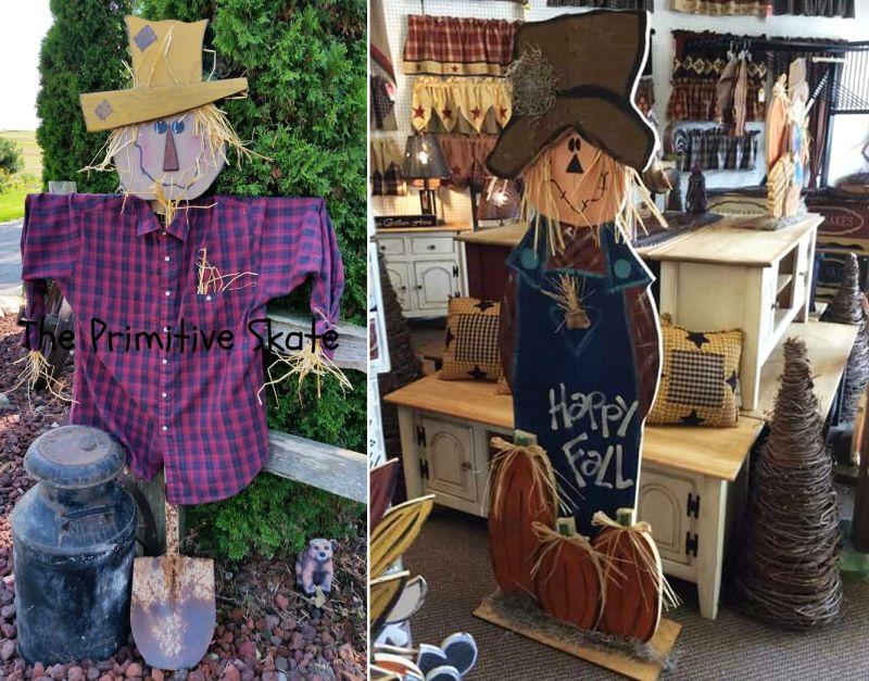 A pallet Scarecrow