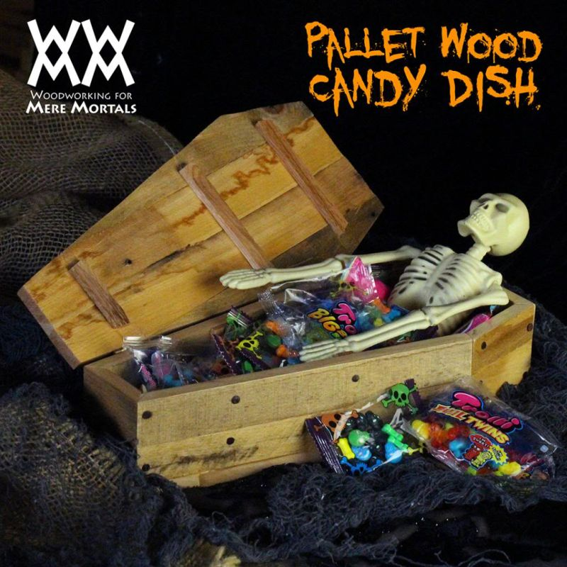 Coffin Candy Dish for Halloween