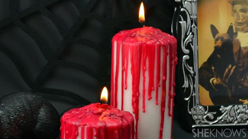 Creepy candles for halloween