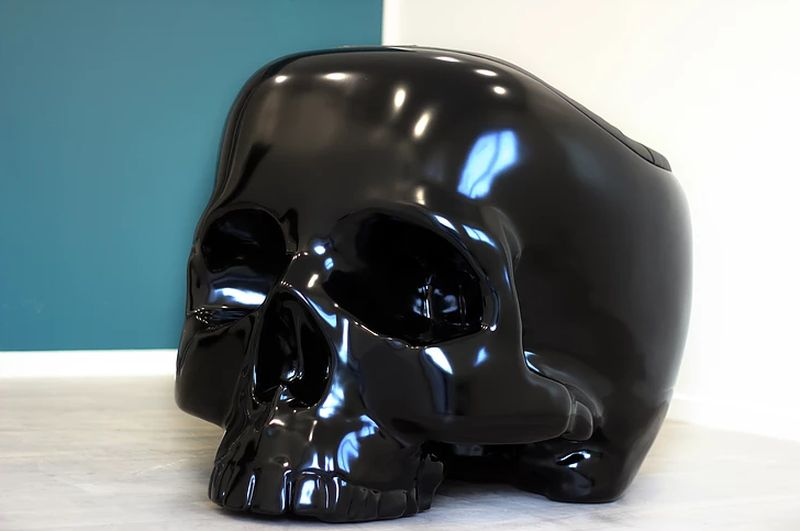 Skull armchair by Gregory Besson