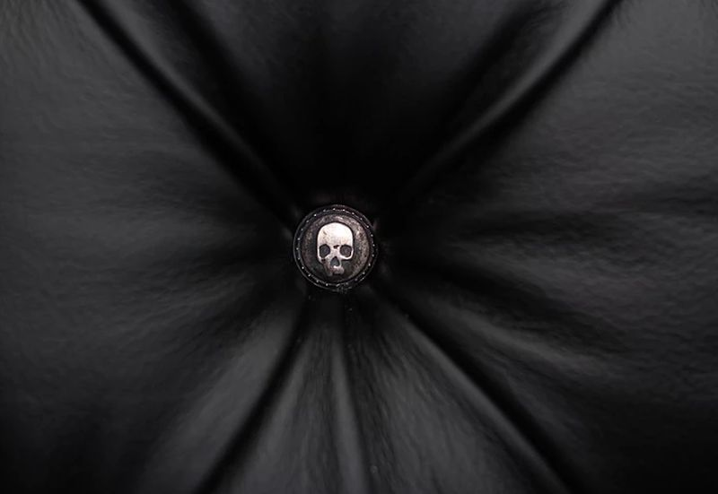 Giant skull armchair button