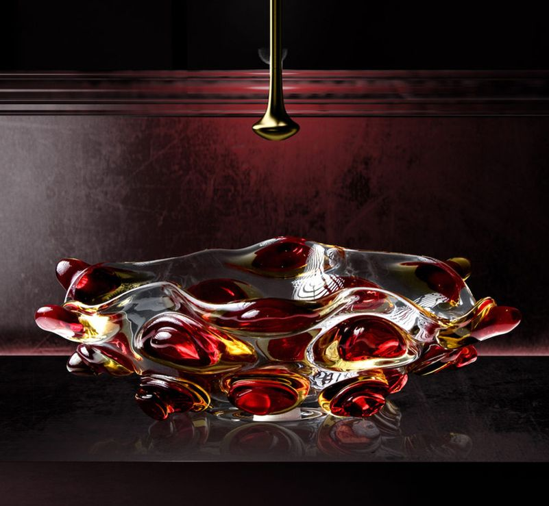 Glass Design's Murano glass sinks add artistic flair to your bathroom