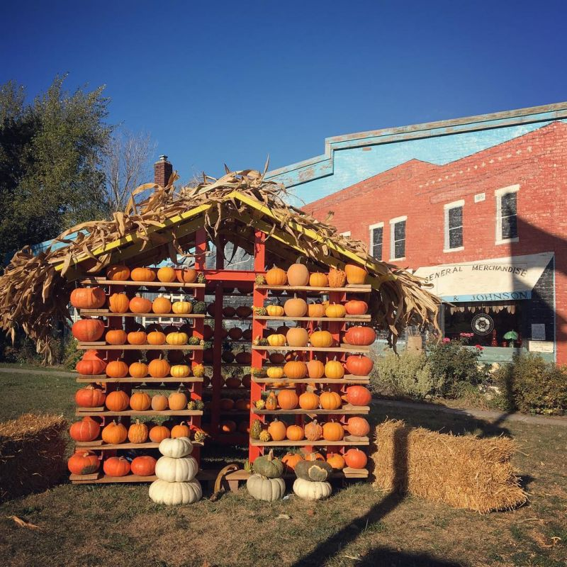 Pumpkin House for Halloween Celebration