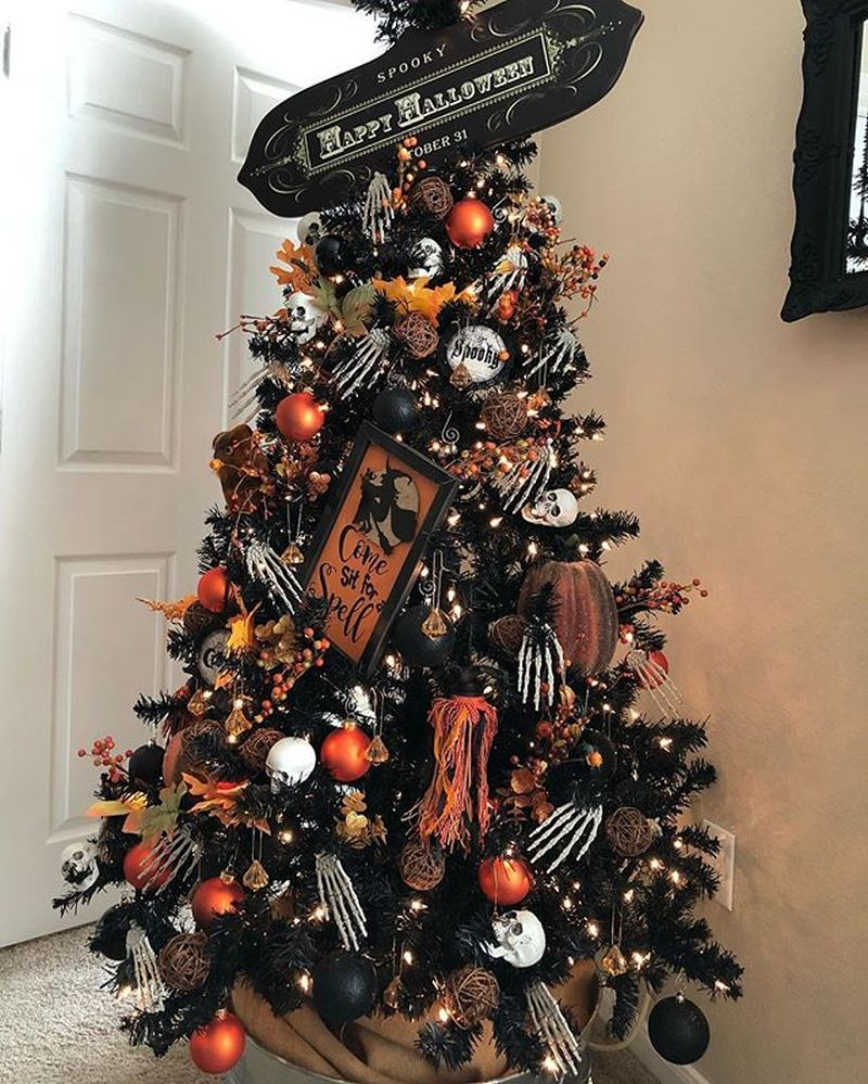 Crafty Halloween Trees That Can be Used for Christmas Too