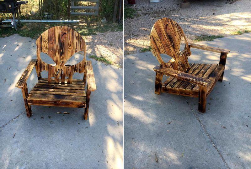 Halloween pallet Chair
