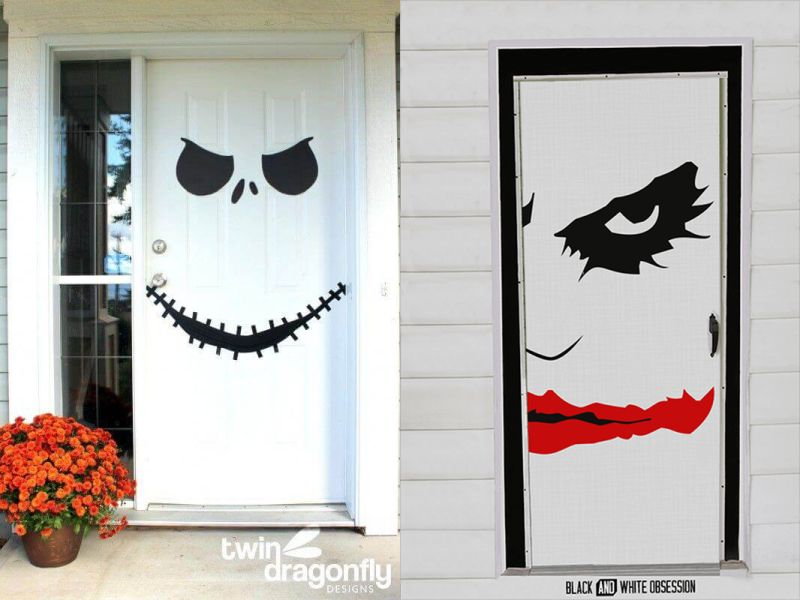 Halooween front door decor tips