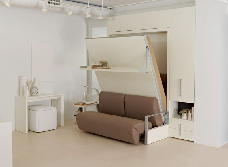 Wall-in bed cum sofa for small rooms