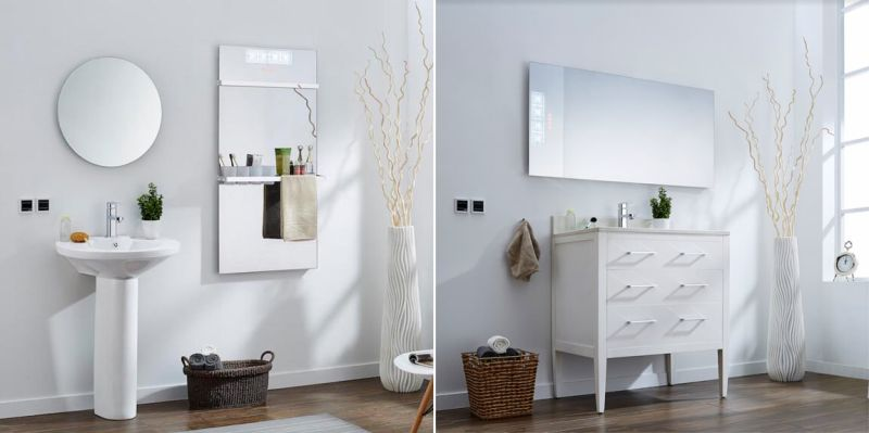 Infralia's Infrared Mirror Heater is Perfect for Small Bathroom