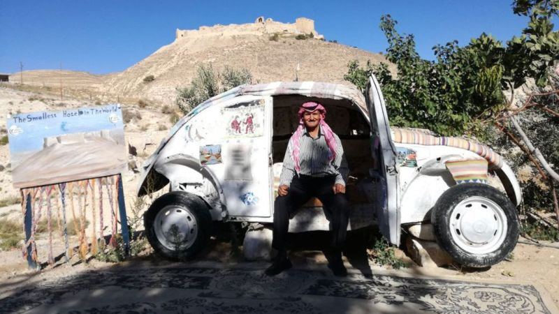Jordan man converts old VW into smallest hotel in the world