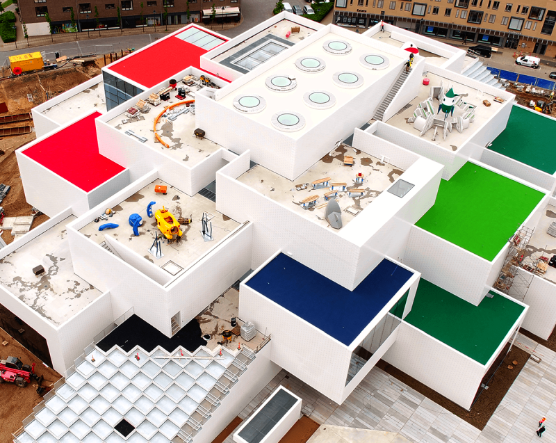 Lego House construction