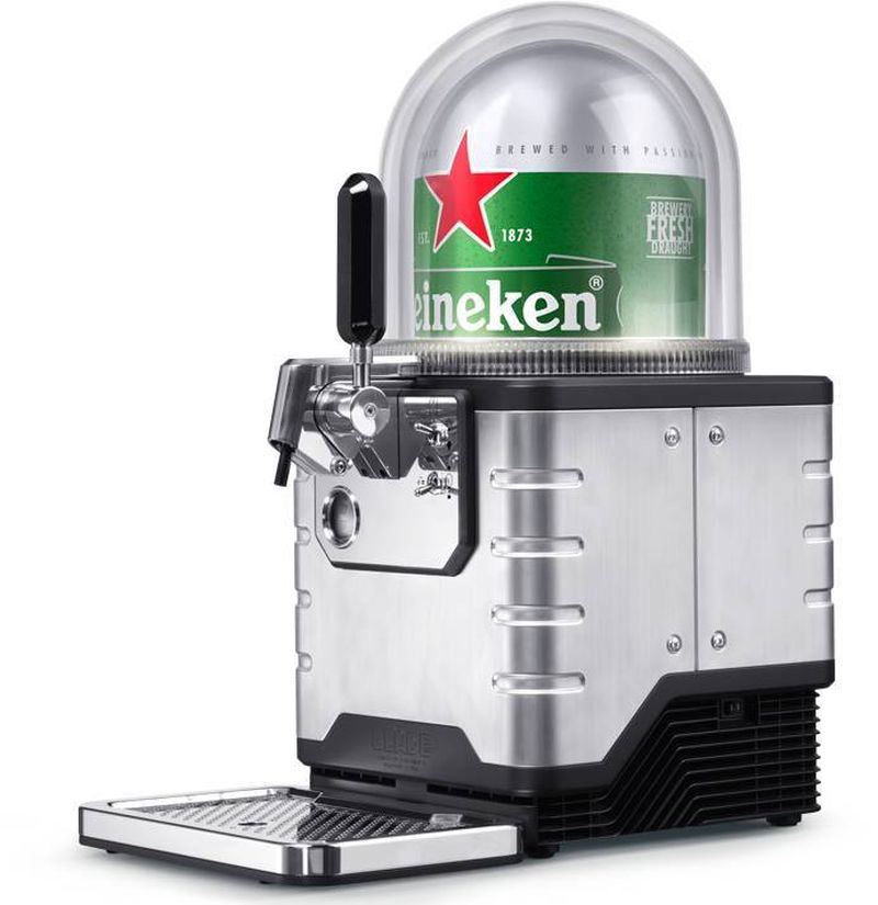 Make a bar out of any counter with Heineken's Blade draught beer dispenser