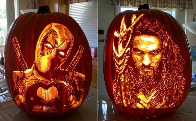Pumpkin art by Alex Wer