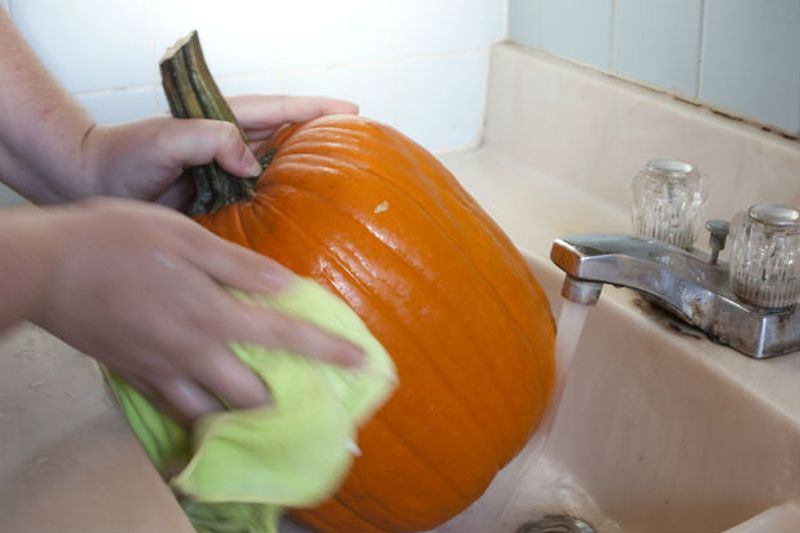 Rinse out your pumpkin