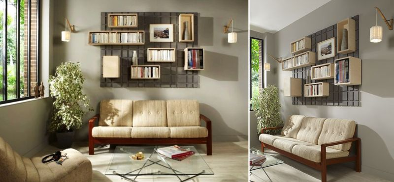 Shelving for small-spaced interior