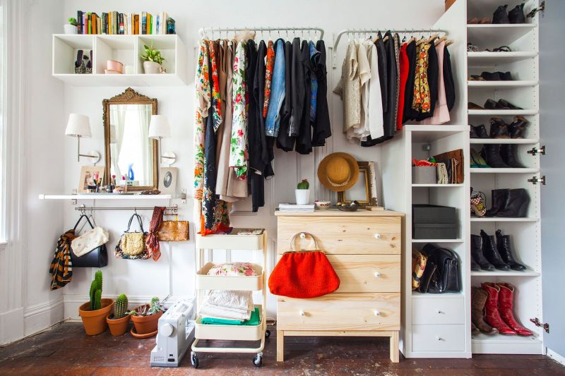 Shelving and closet for small rooms