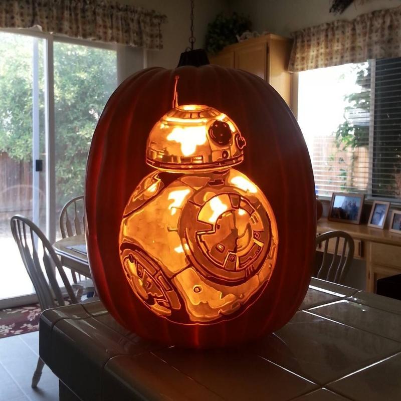 Custom-carved pumpkins by Alex Wer