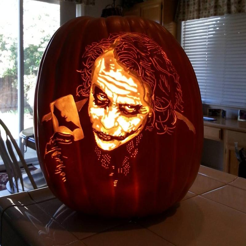 Custom-carved pumpkins by Alex Werr