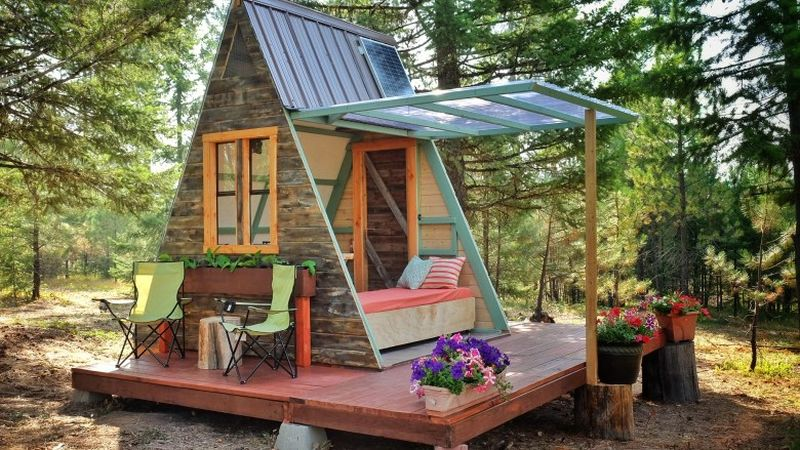 This Solar Powered A Frame Cabin Features A Retractable Wall_10   HomeCrux