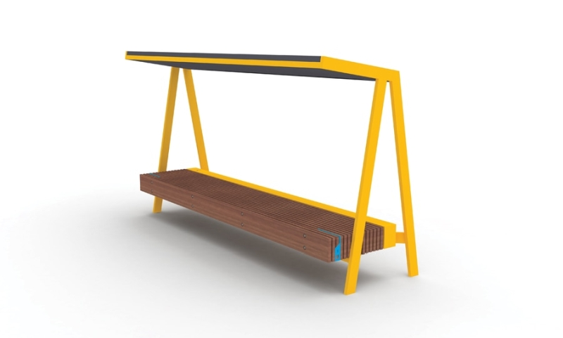 Woody solar bench By David Karásek,