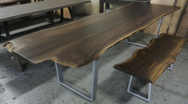 Trendy live edge furniture brings nature's beauty to your home