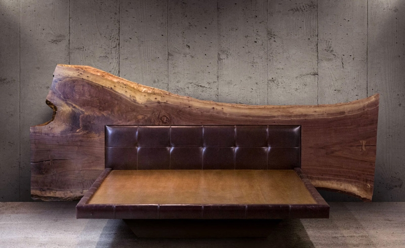Live Edge Bed by SENTIENT