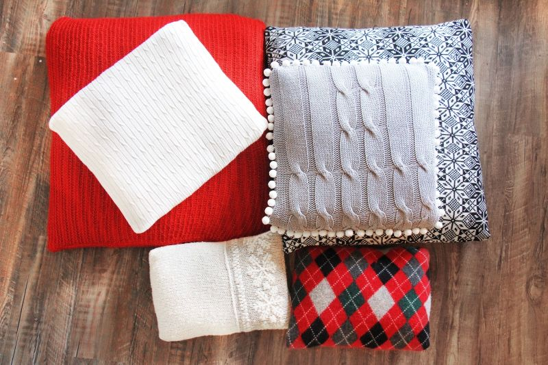 Christmas-themed cushion covers and throws