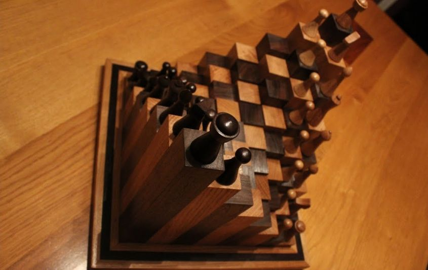 Diy 3d Chess Board By Andy Philip Is A Different Take On