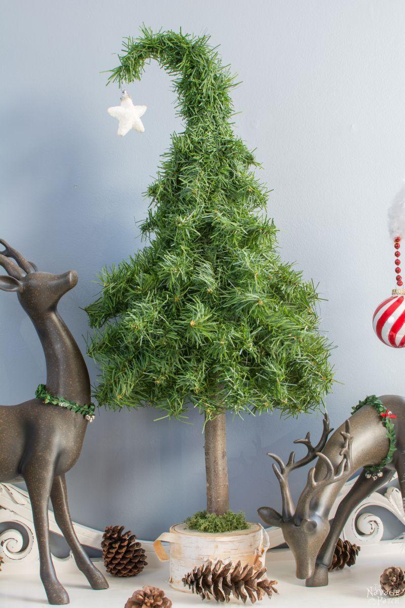 Greenish tabletop Christmas tree