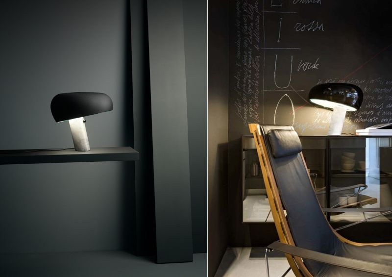 Flos's Limited Edition Snoopy table lamp by Achille Castiglioni