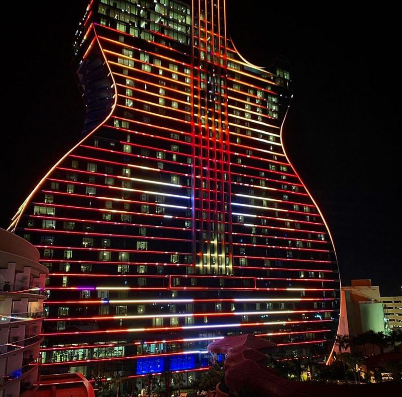 Seminole Hard Rock's Guitar Hotel in Hollywood, Florida Open for Tourists