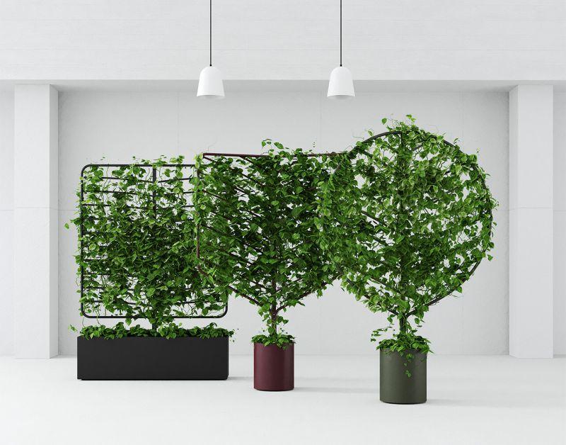 Helen Kontouris' botanical planter screens bring nature to any urban environment