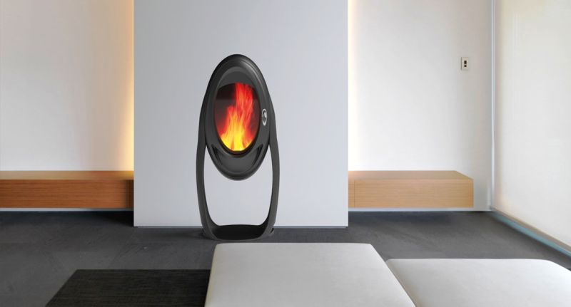 Jerome Olivet's Asteroide wood-burning stove looks perfect for modern living spaces