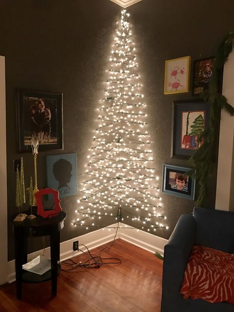 Lights and candles for Christmas décor