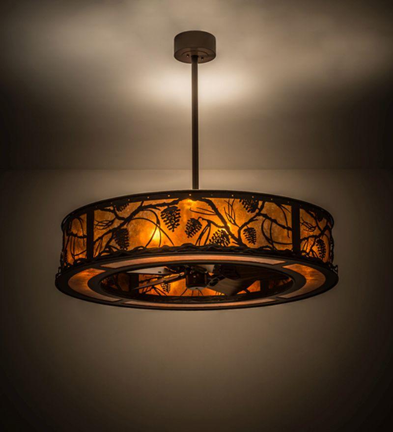 Meyda Tiffany ceiling fan light