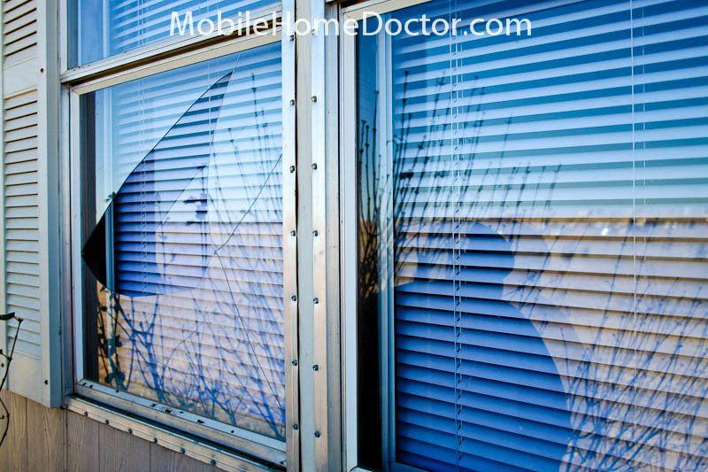 Moibile home window treatment