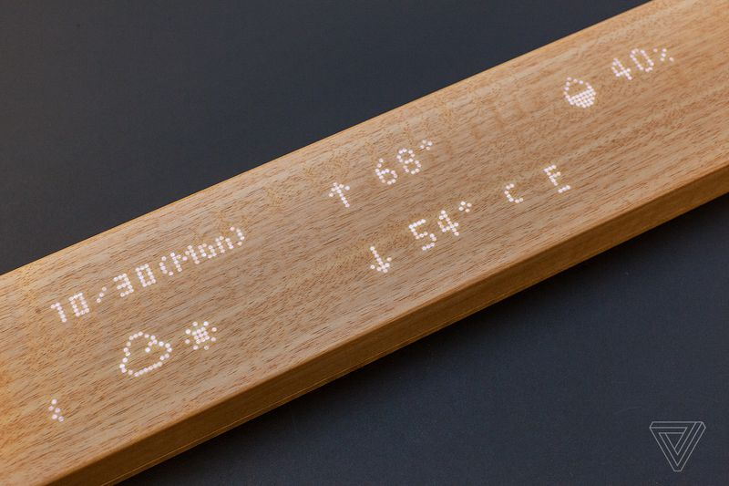 Mui Wooden Interactive Display Can Control Lights Temperature