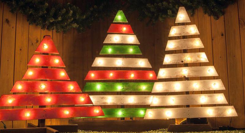 pallet wood christmas tree 1