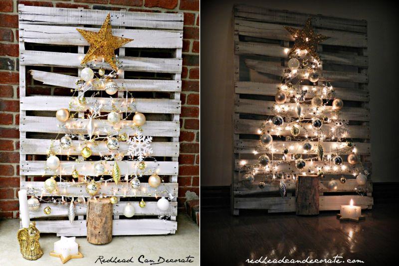 Pallet wood Christmas tree-2