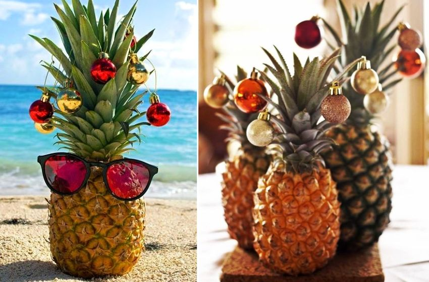 Christmas Pineapple.Pineapple Christmas Tree For Ones Who Like To Experiment