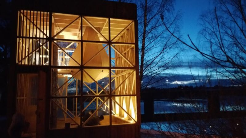 Scarcity and Creativity Studio's glass cabin to live amongst nature