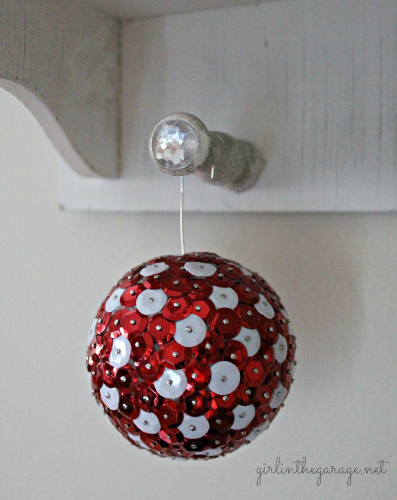 Sequin DIY Christmas decoration balls