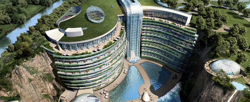 Shimao Wonderland Intercontinental quarry hotel will be completed by 2018
