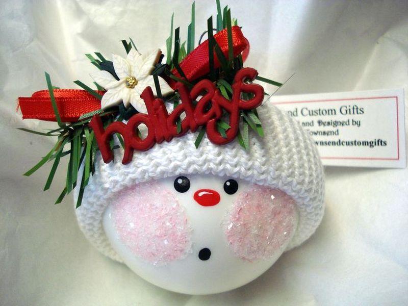 Christmas Foam ball Snowman