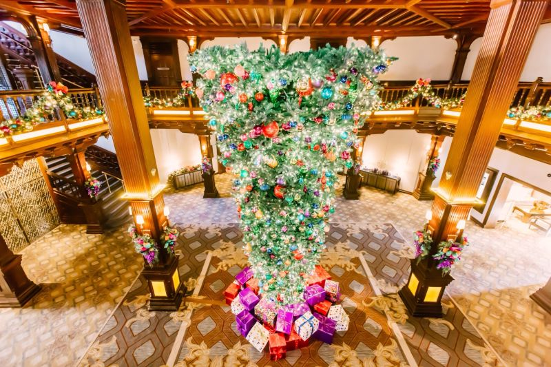 Upside-down Christmas trees may sound strange, but they exist