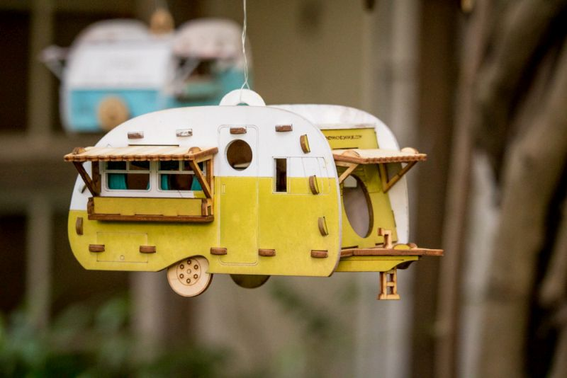 Vintage camper birdhouse by Marcus Williams of One Man, One Garage