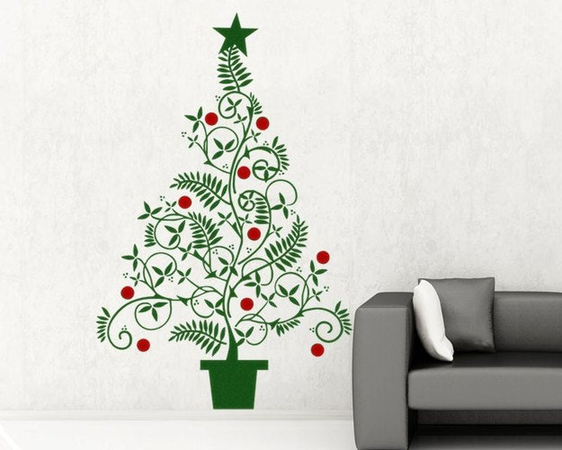 Wall decals and artwork for Christmas decor