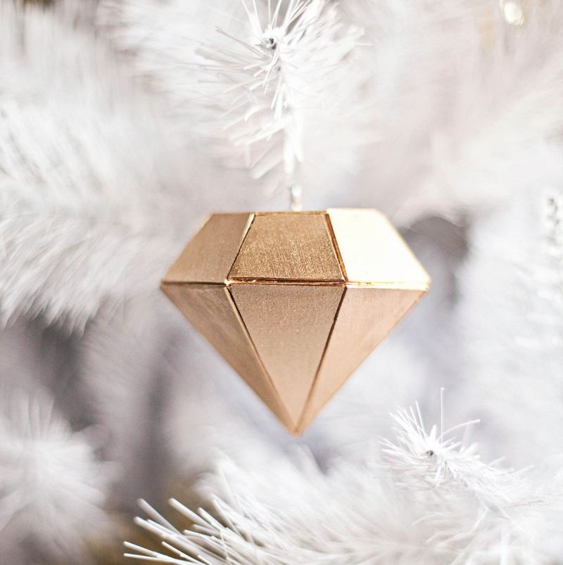 Wood Diamond ornament