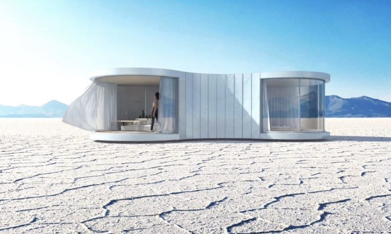 lumishell prefab pop-up cocoon